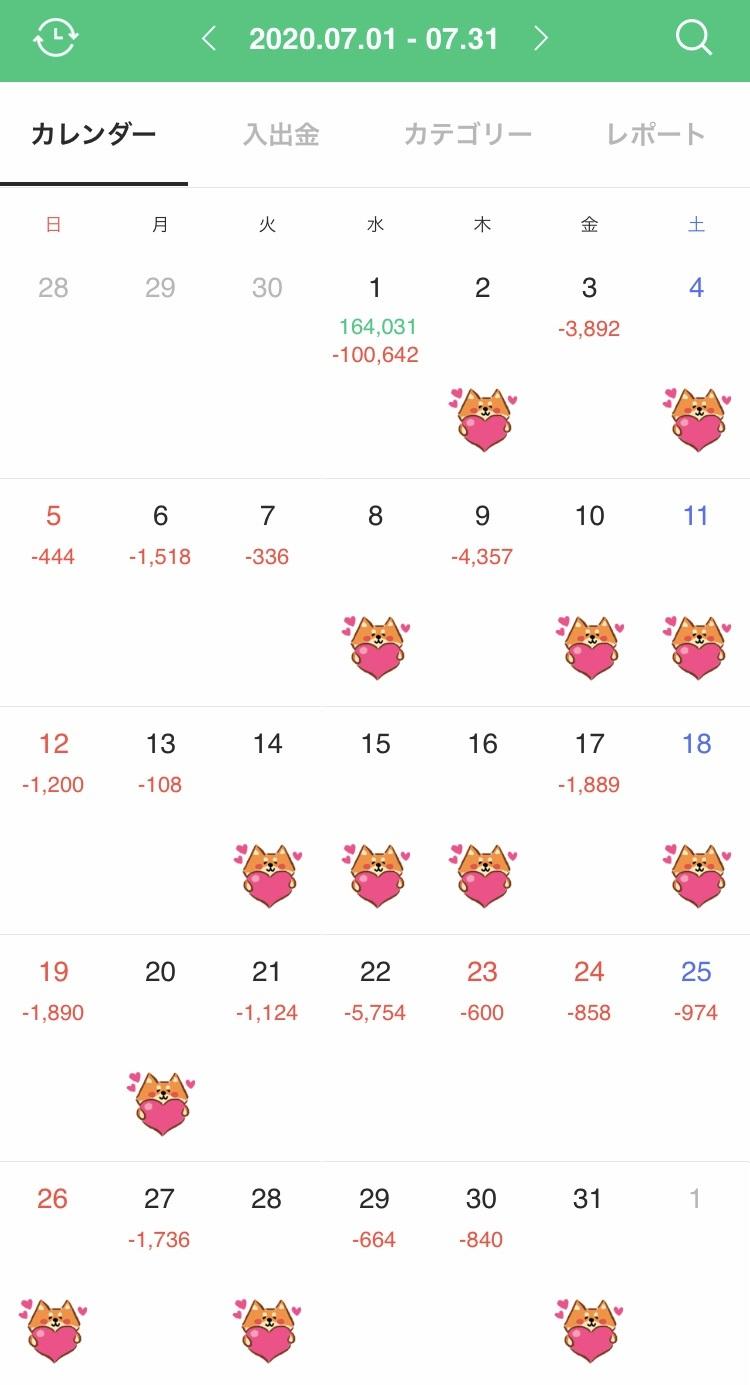 7月の家計簿